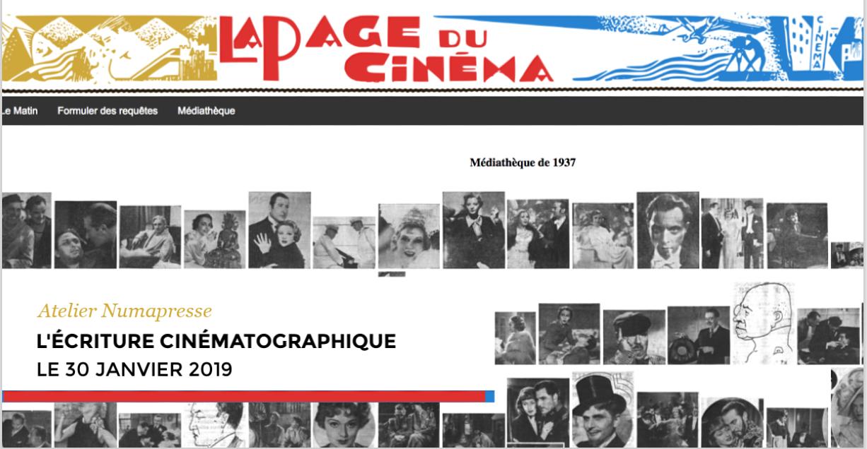 Atelier sur l'écriture cinématographique (30 janvier 2019, Site Saint-Charles, Montpellier III)