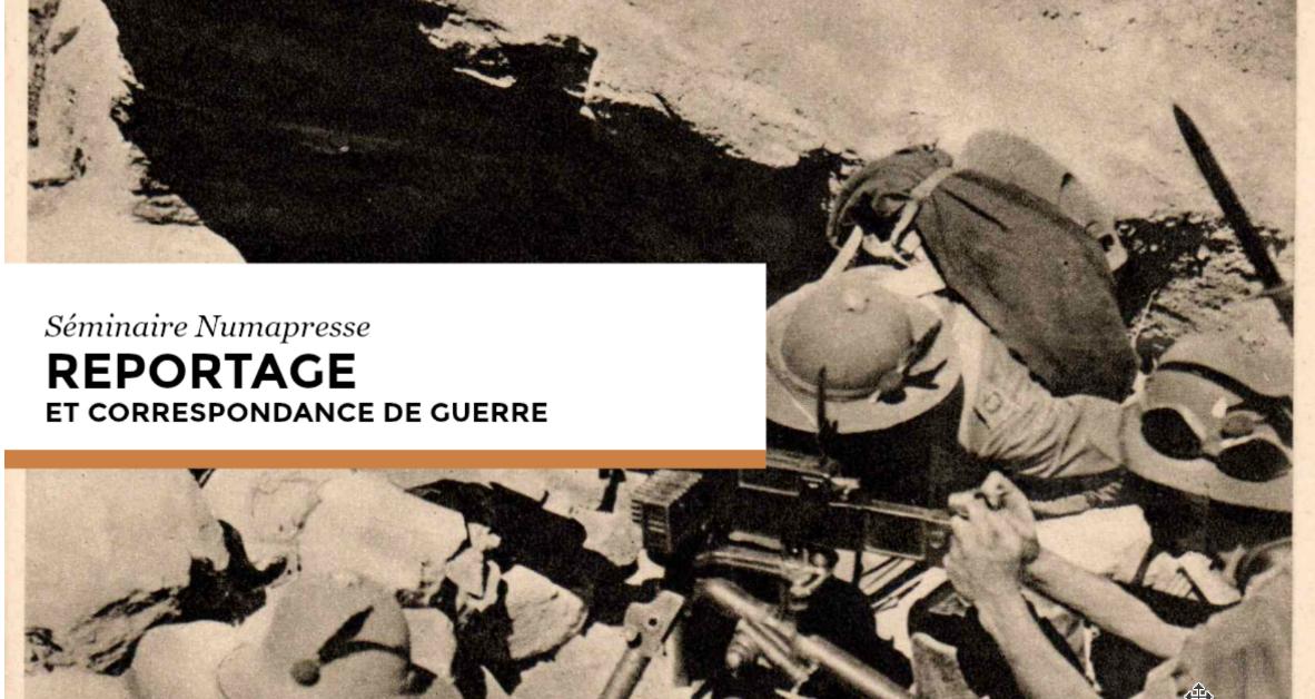 Compte rendu : séminaire Reportage et correspondance de guerre (26 septembre 2019)
