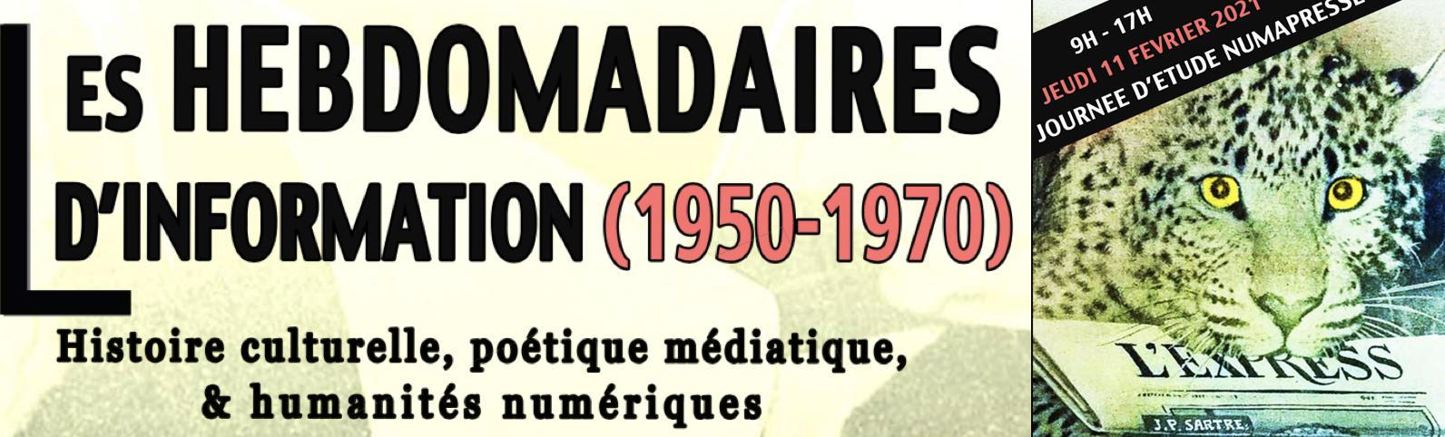 Journée d'étude sur les hebdomadaires d'information (1950-1970) [En ligne et à Montpellier]